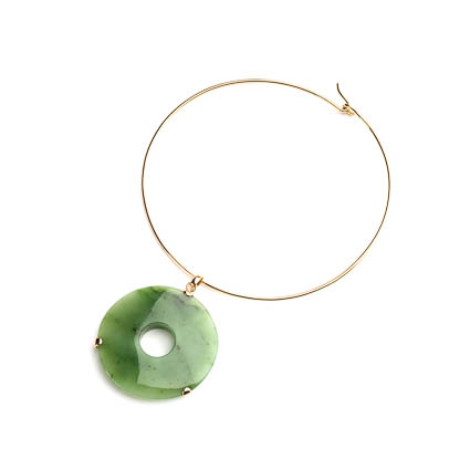 DISC NECKLACE – JADE