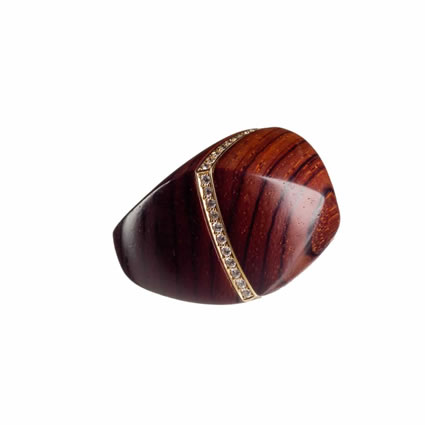 DOME RING – COCOBOLO