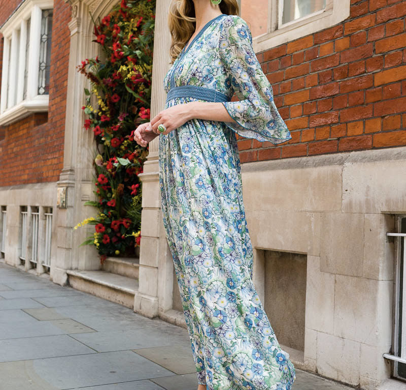 Aerin Dress – Blue/Green Glorious Morning