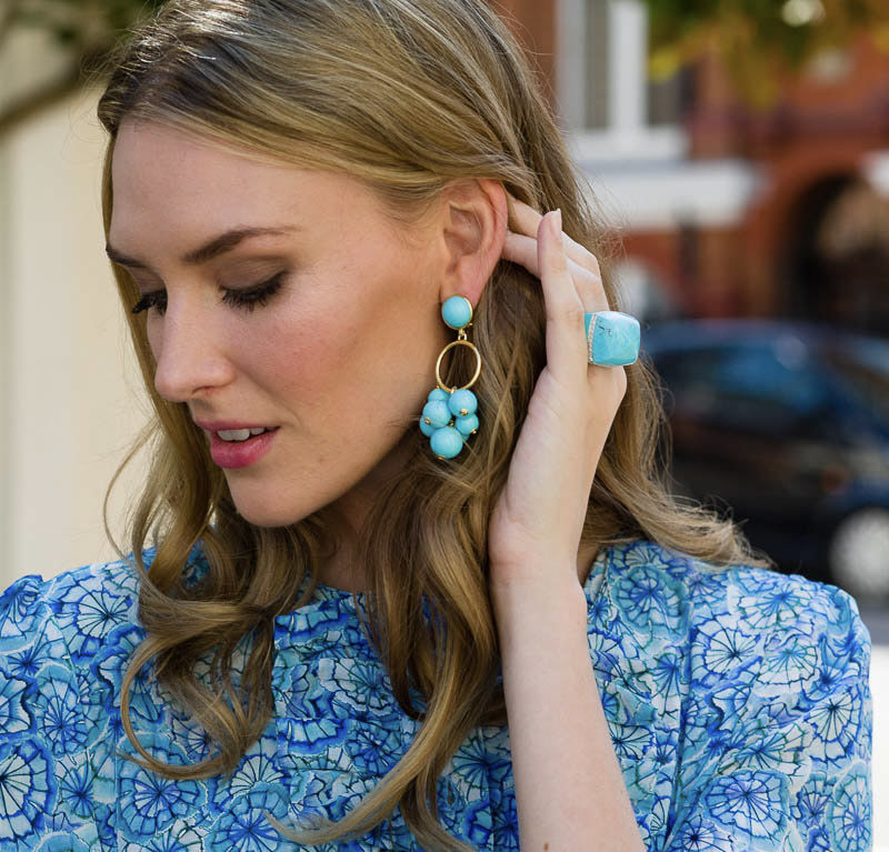 Bauble Earrings – Turquoise