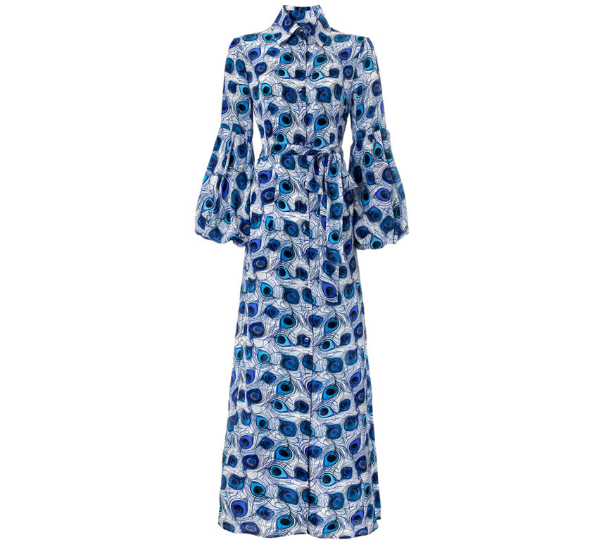 Orlova Dress – Blue Feather Parade